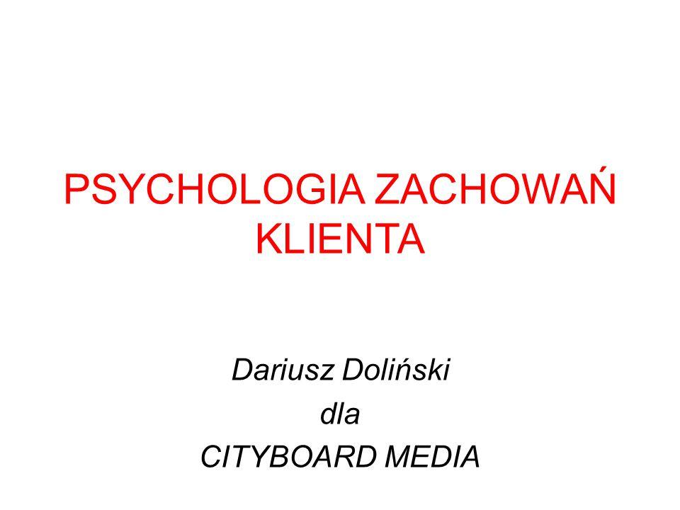 PSYCHOLOGIA ZACHOWAŃ KLIENTA