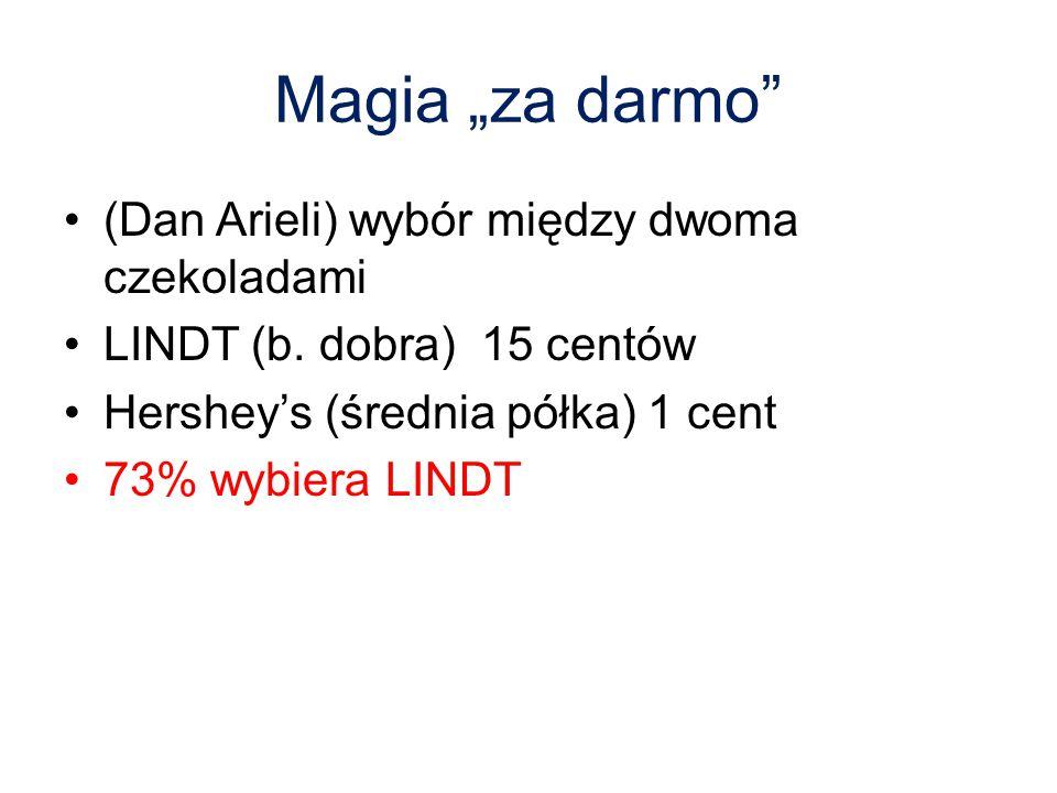 """Magia """"za darmo (Dan Arieli) wybór między dwoma czekoladami"""