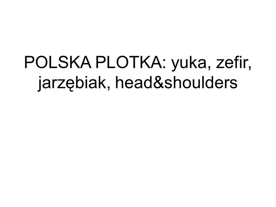 POLSKA PLOTKA: yuka, zefir, jarzębiak, head&shoulders