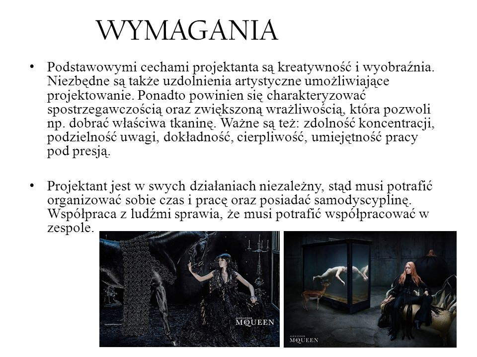 WYMAGANIA
