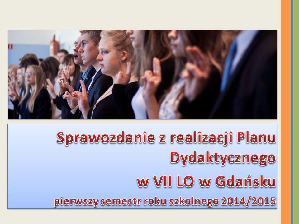Sprawozdanie z realizacji Planu Dydaktycznego w VII LO w Gdańsku
