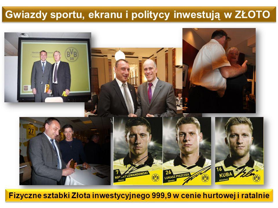 Gwiazdy sportu, ekranu i politycy inwestują w ZŁOTO