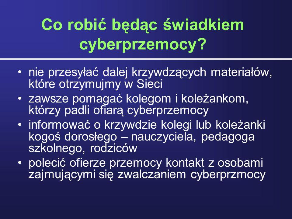 Co robić będąc świadkiem cyberprzemocy