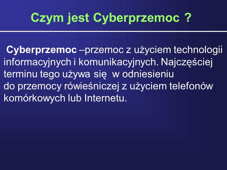 Czym jest Cyberprzemoc
