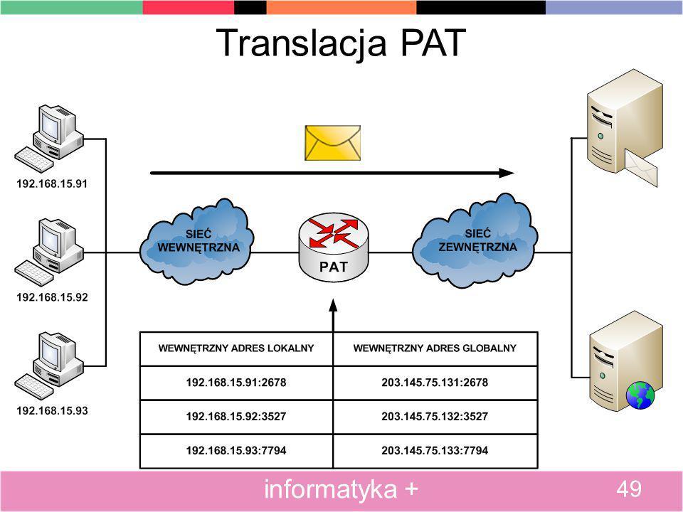 Translacja PAT informatyka + 49