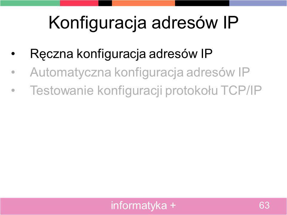 Konfiguracja adresów IP