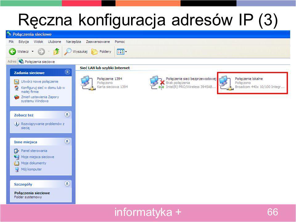 Ręczna konfiguracja adresów IP (3)