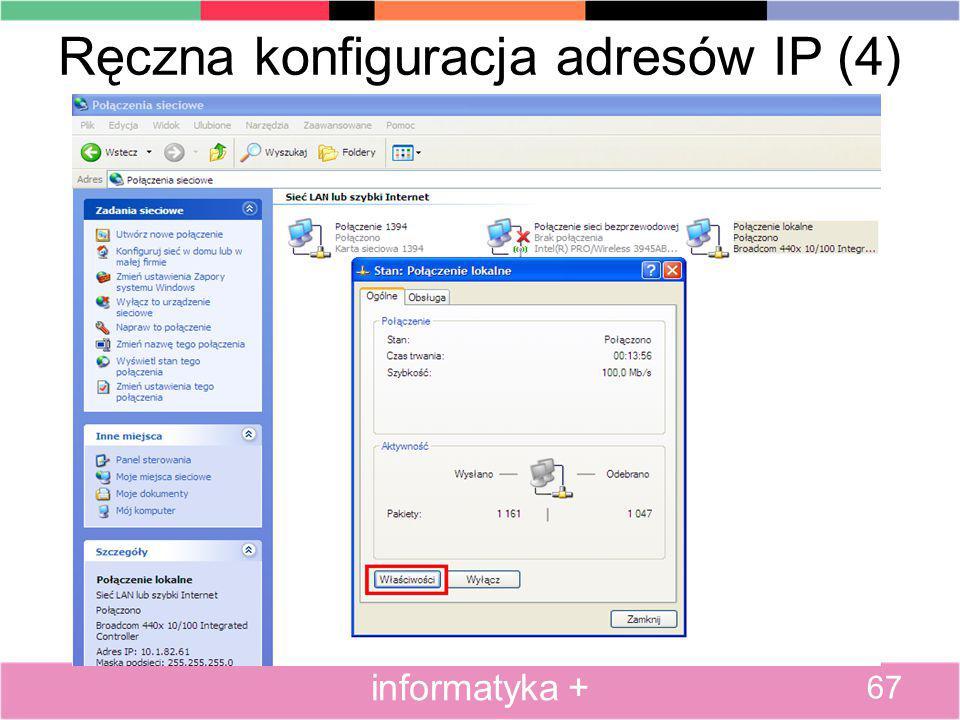 Ręczna konfiguracja adresów IP (4)