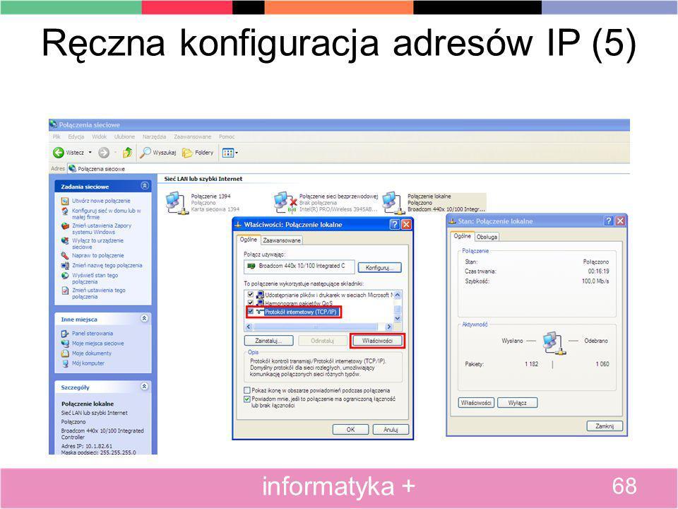 Ręczna konfiguracja adresów IP (5)