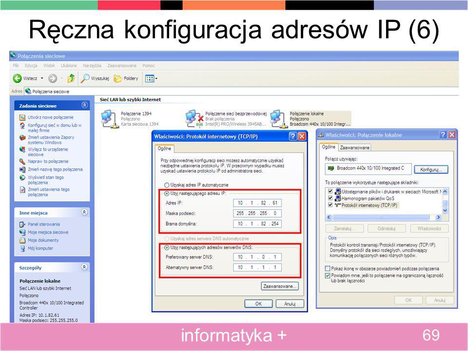 Ręczna konfiguracja adresów IP (6)