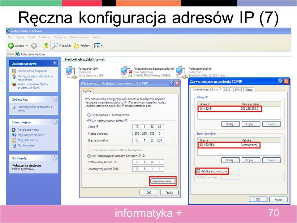 Ręczna konfiguracja adresów IP (7)