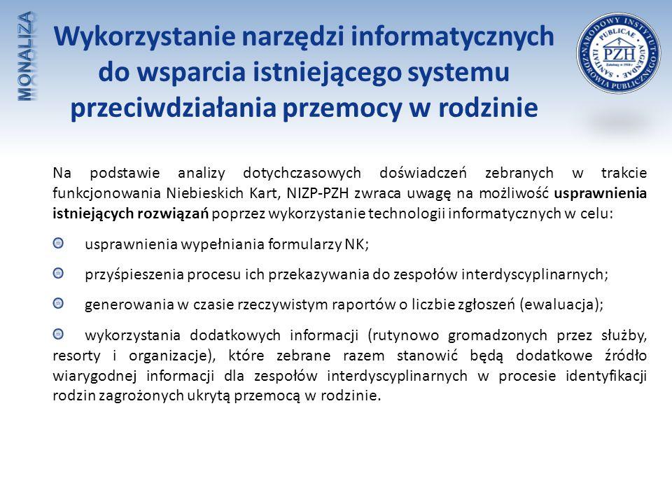 Wykorzystanie narzędzi informatycznych do wsparcia istniejącego systemu przeciwdziałania przemocy w rodzinie