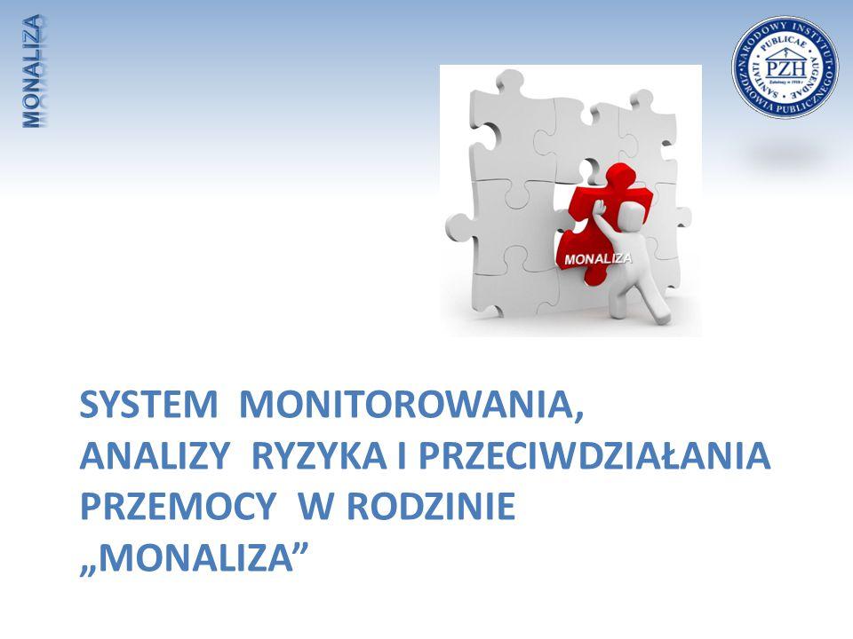 """MONALIZA System Monitorowania, Analizy Ryzyka i Przeciwdziałania Przemocy w Rodzinie """"MONALIZA"""