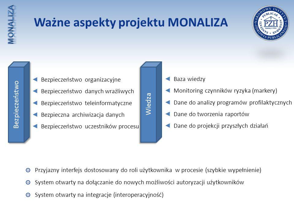 Ważne aspekty projektu MONALIZA