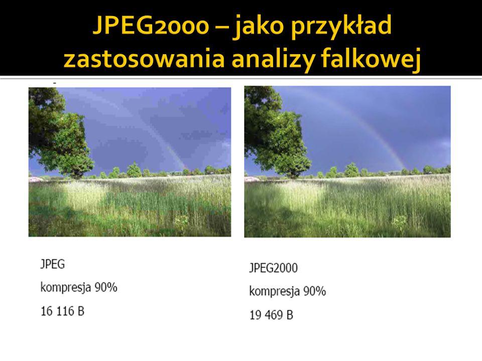 JPEG2000 – jako przykład zastosowania analizy falkowej