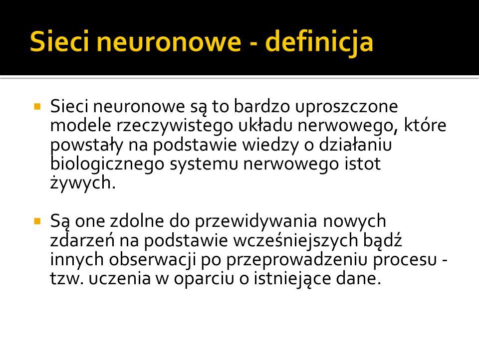 Sieci neuronowe - definicja