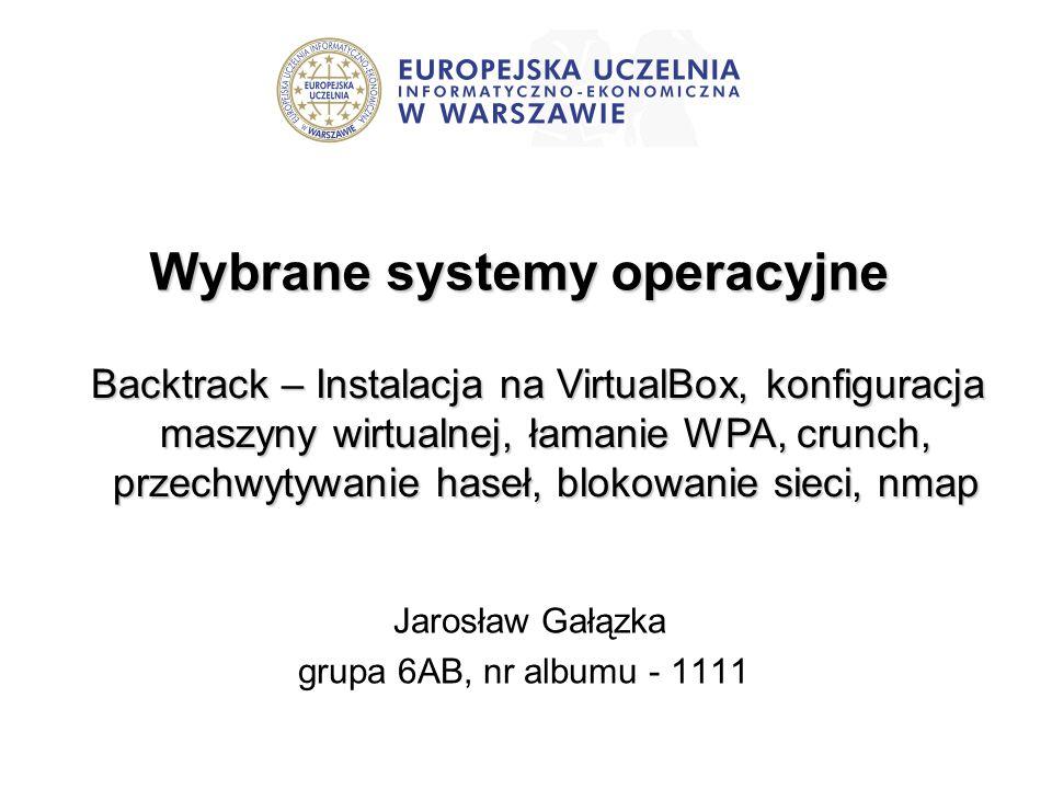 Wybrane systemy operacyjne