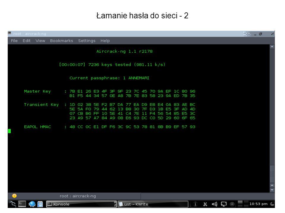 Łamanie hasła do sieci - 2