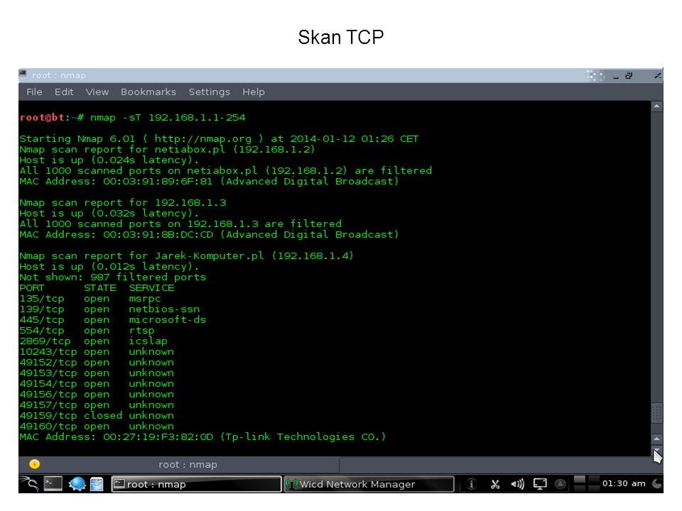 Skan TCP