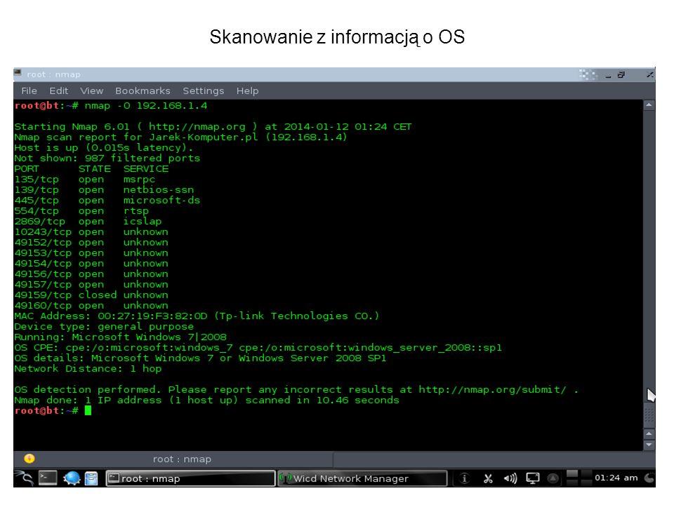 Skanowanie z informacją o OS
