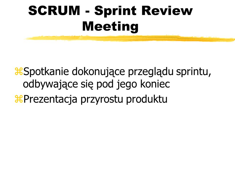 SCRUM - Sprint Review Meeting
