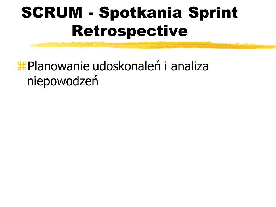 SCRUM - Spotkania Sprint Retrospective