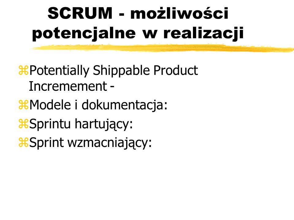 SCRUM - możliwości potencjalne w realizacji