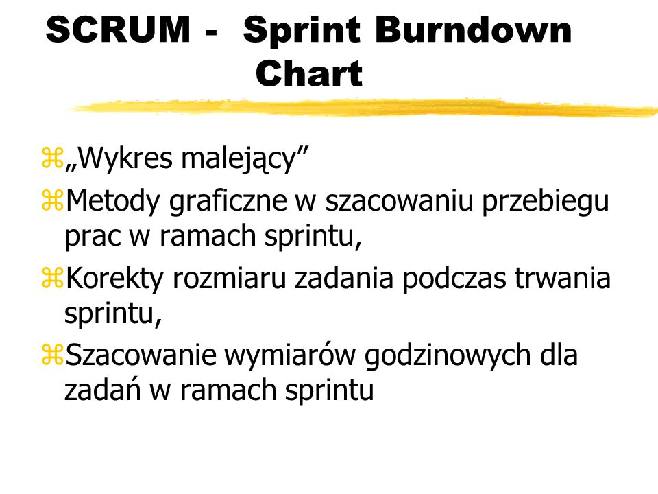 SCRUM - Sprint Burndown Chart
