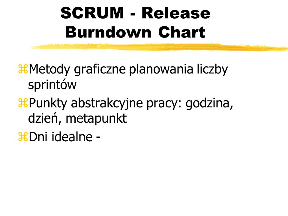 SCRUM - Release Burndown Chart