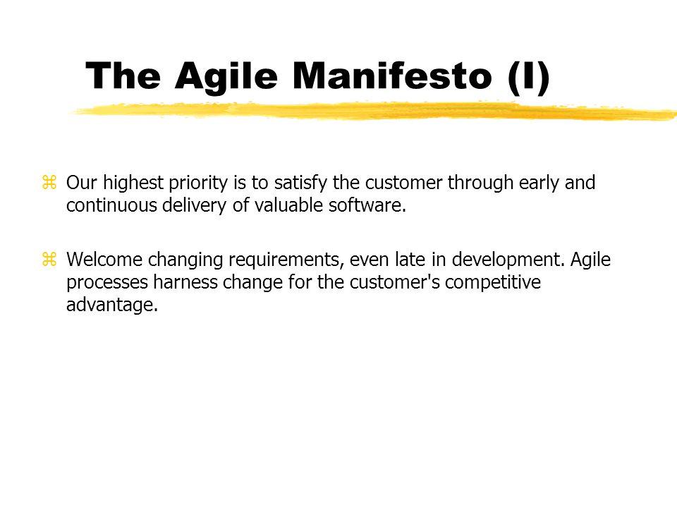 The Agile Manifesto (I)