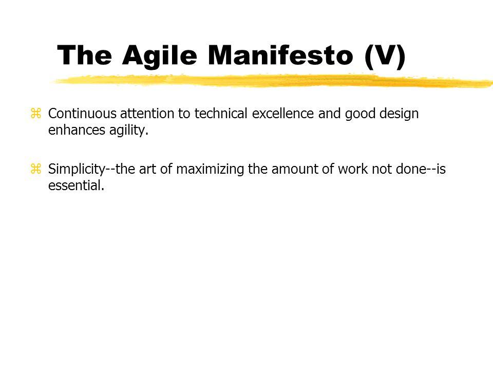 The Agile Manifesto (V)
