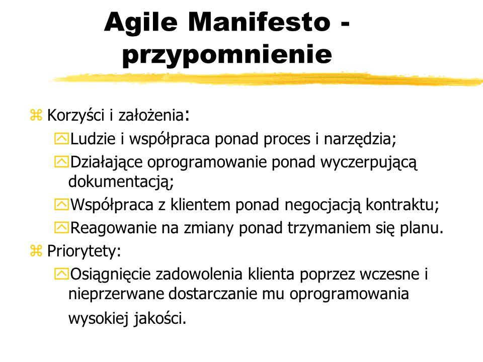 Agile Manifesto - przypomnienie