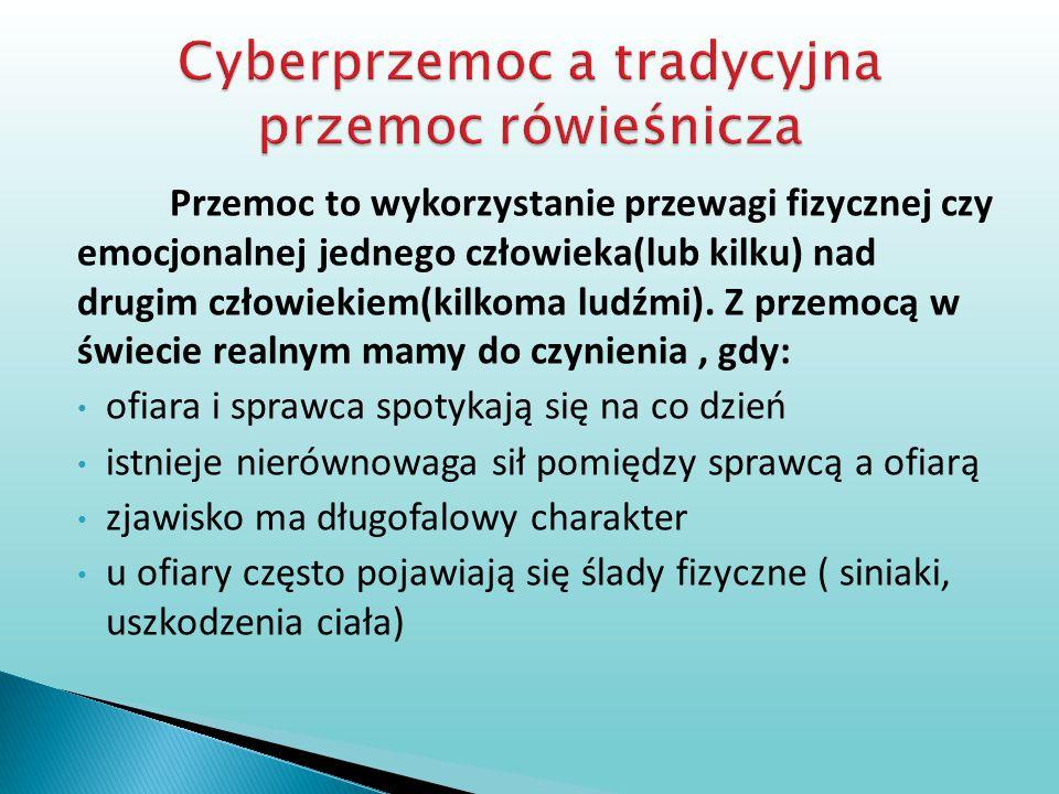 Cyberprzemoc a tradycyjna przemoc rówieśnicza