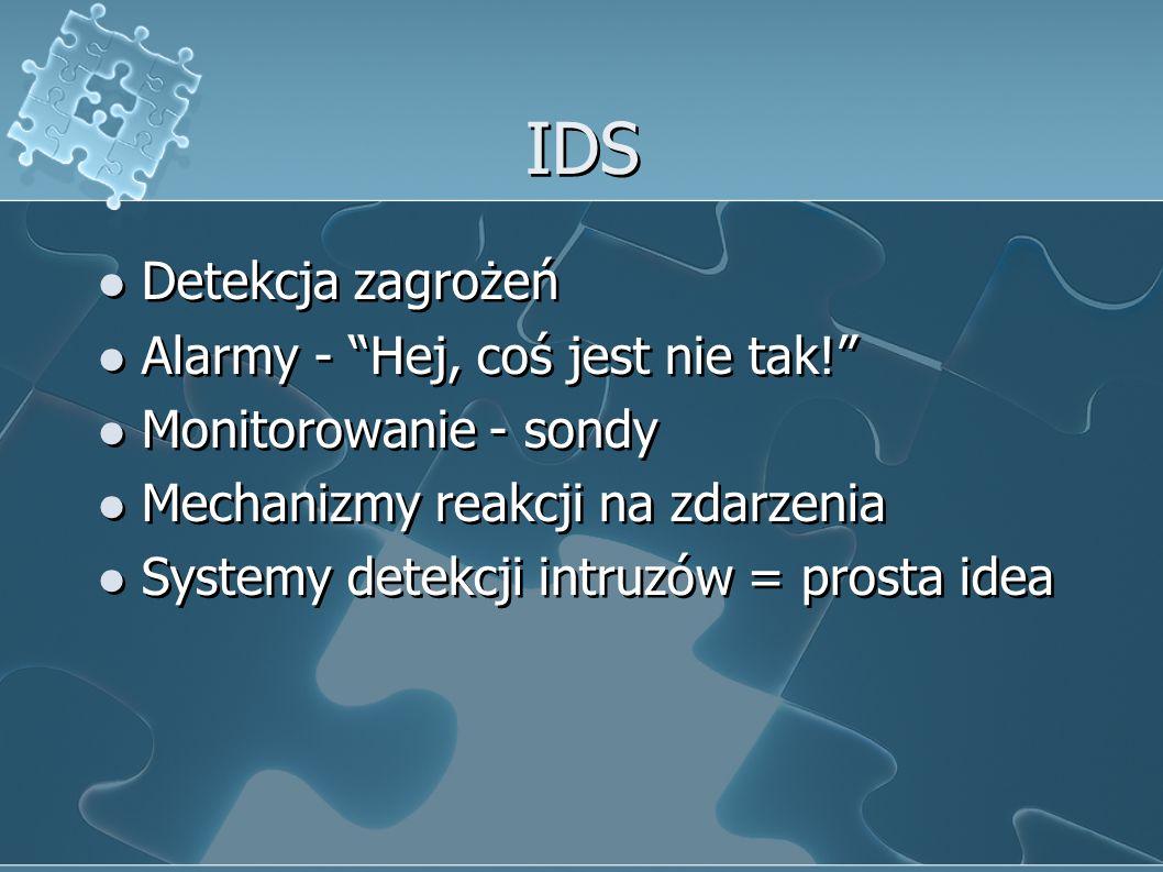 IDS Detekcja zagrożeń Alarmy - Hej, coś jest nie tak!