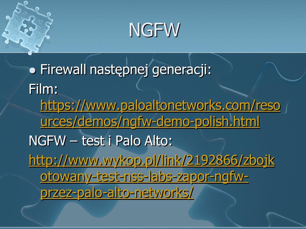NGFW Firewall następnej generacji: