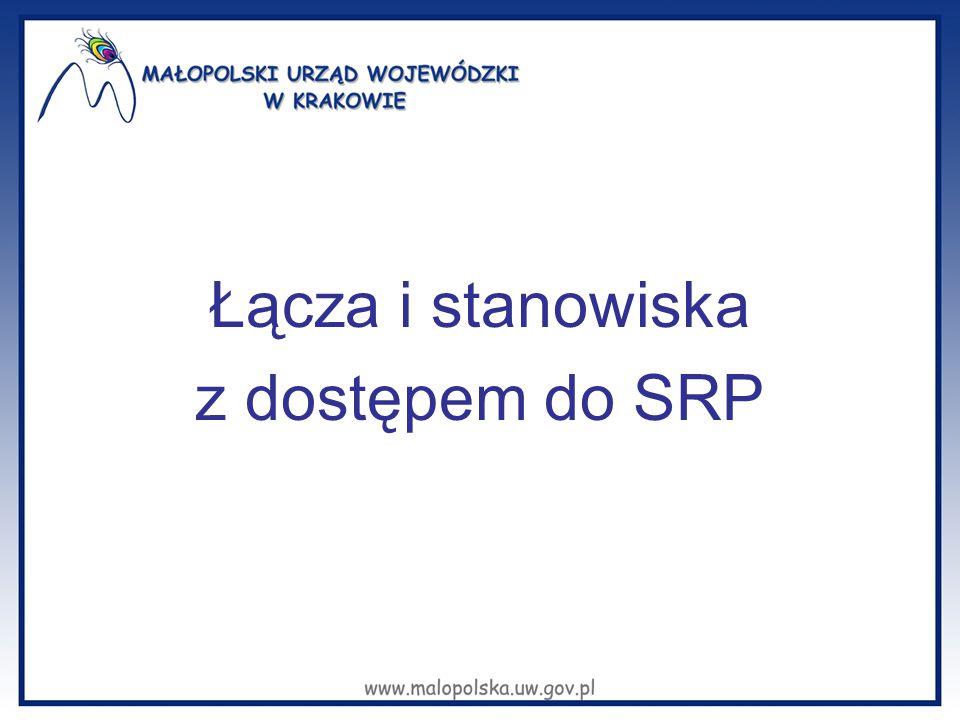 Łącza i stanowiska z dostępem do SRP