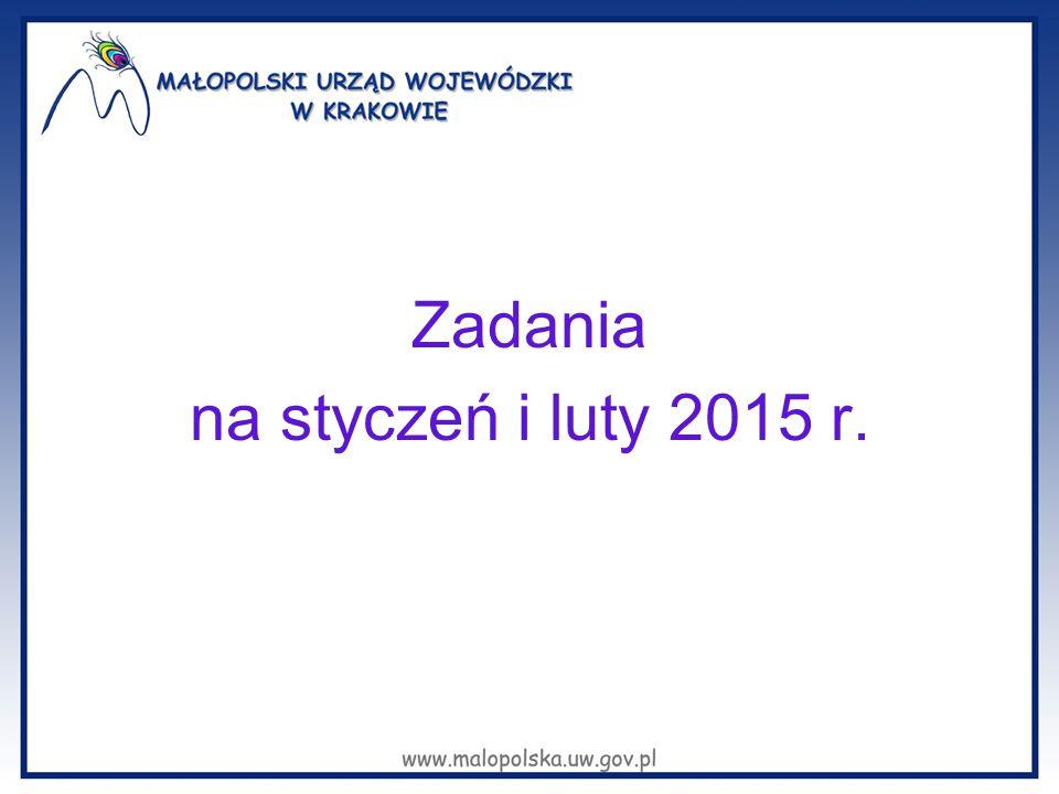 Zadania na styczeń i luty 2015 r.