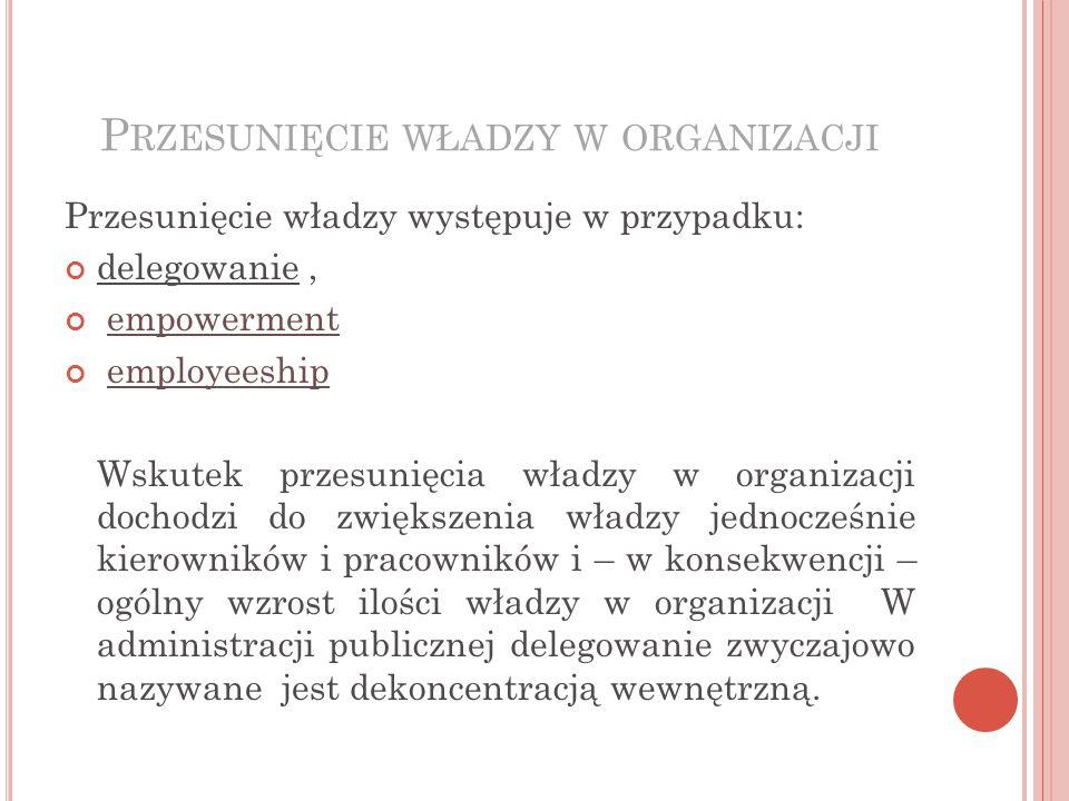 Przesunięcie władzy w organizacji