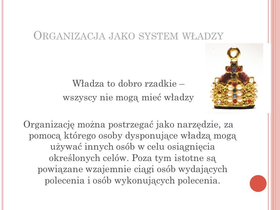 Organizacja jako system władzy
