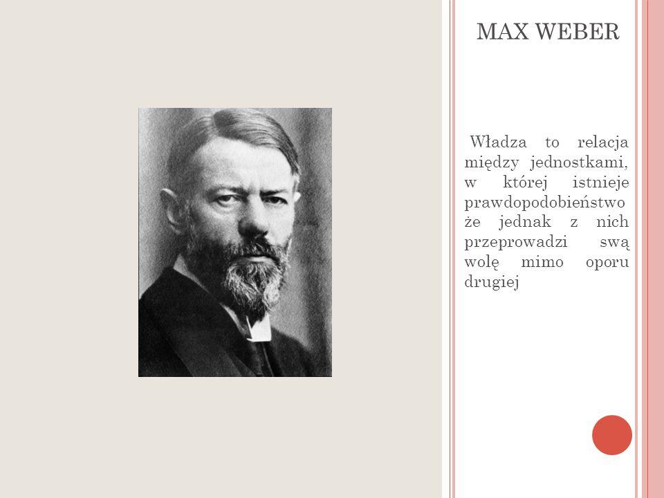 Pojęcie władzy- M WEBER