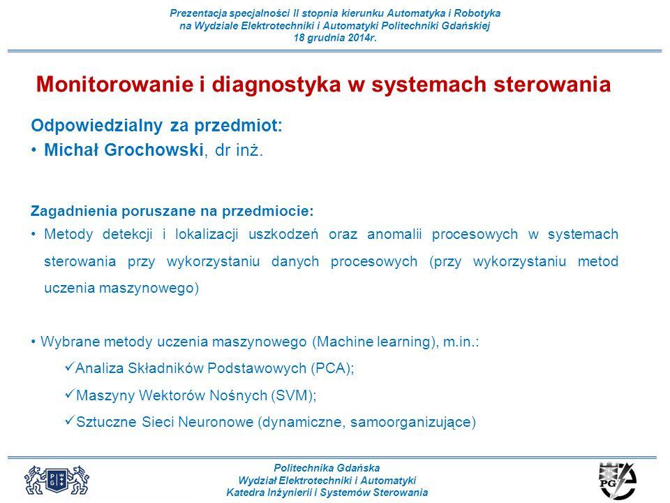 Monitorowanie i diagnostyka w systemach sterowania