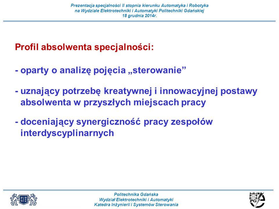 Profil absolwenta specjalności: