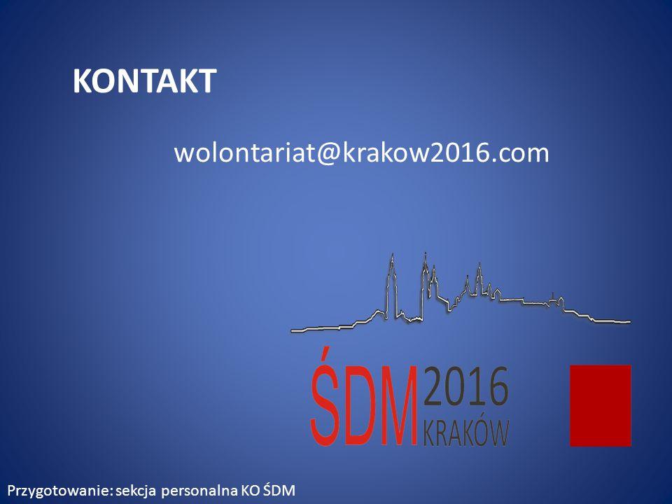 KONTAKT wolontariat@krakow2016.com