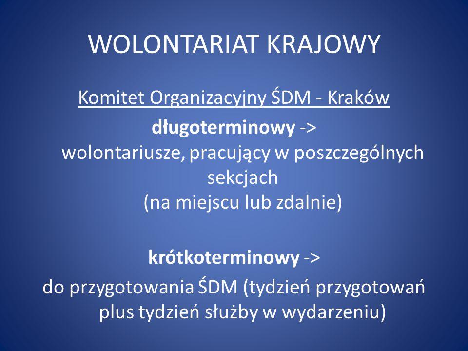 WOLONTARIAT KRAJOWY Komitet Organizacyjny ŚDM - Kraków