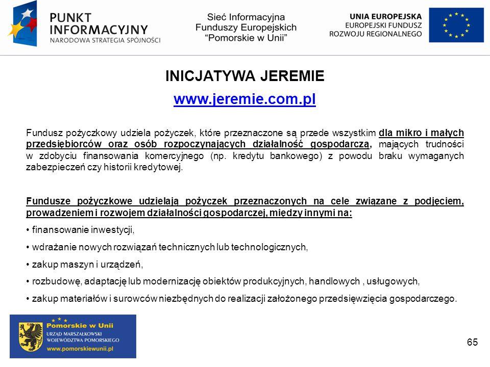 INICJATYWA JEREMIE www.jeremie.com.pl