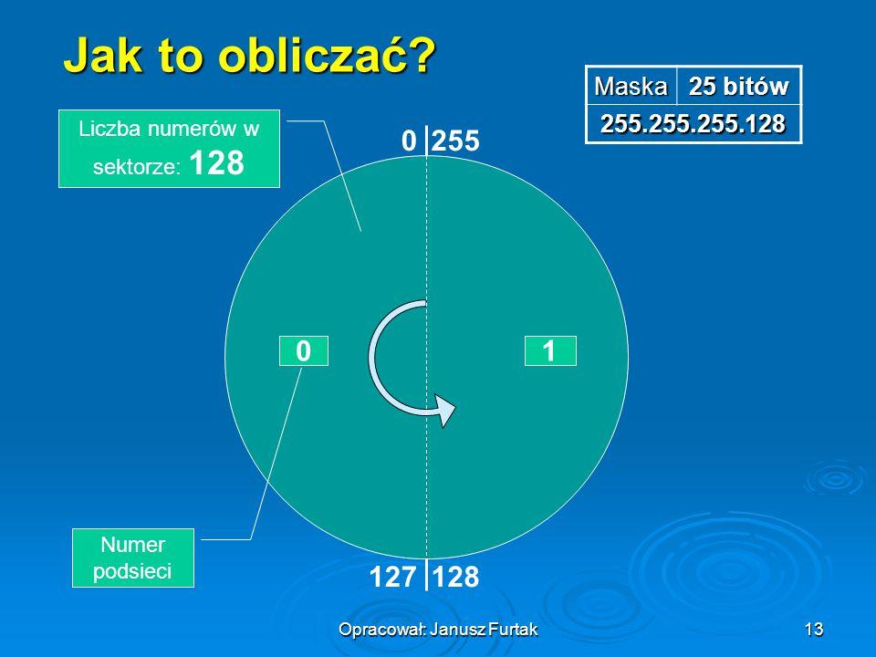 Jak to obliczać 255 1 127 128 Maska 25 bitów 255.255.255.128