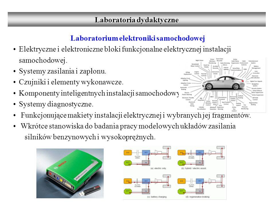 Laboratoria dydaktyczne Laboratorium elektroniki samochodowej