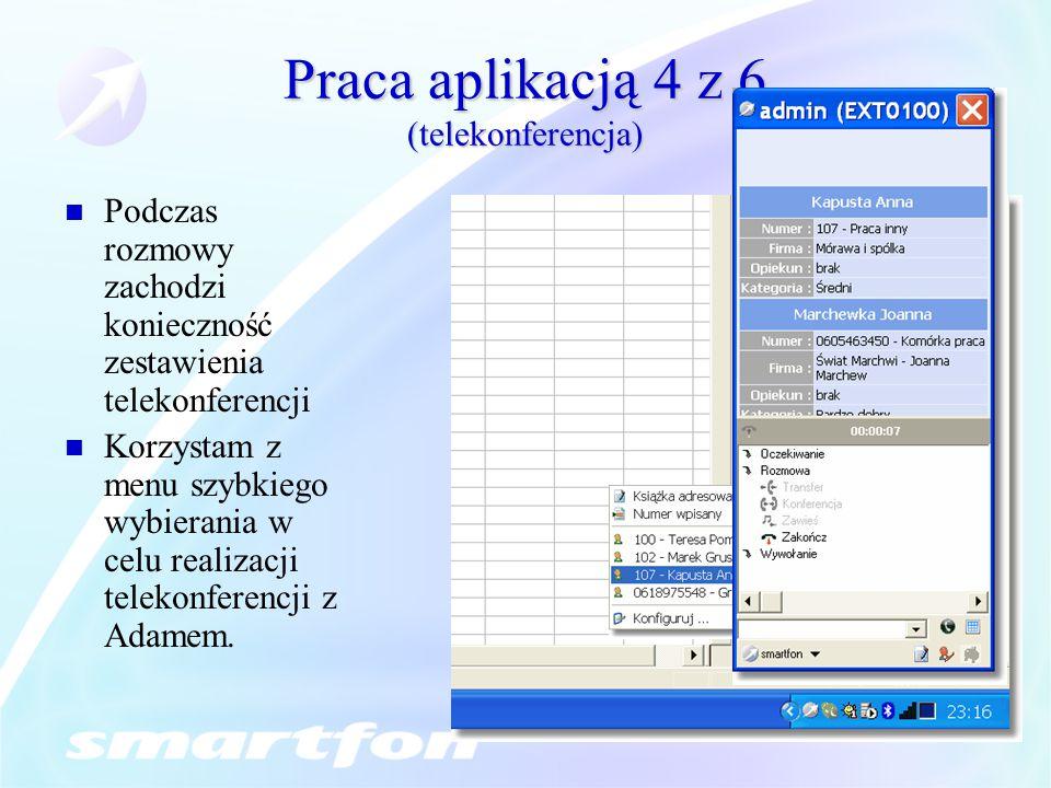Praca aplikacją 4 z 6 (telekonferencja)