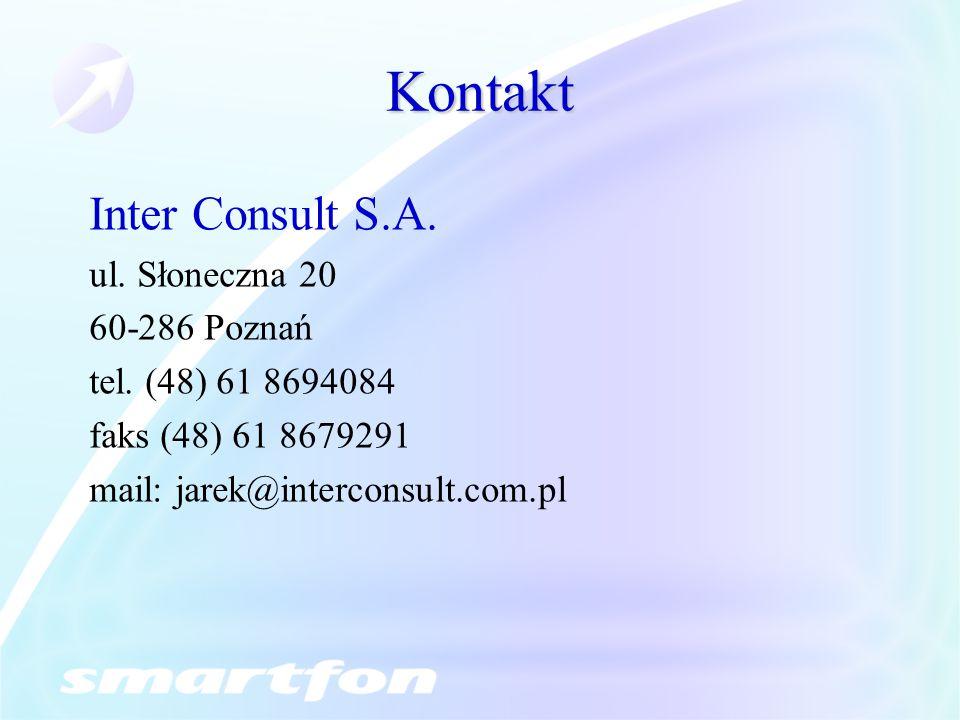 Kontakt Inter Consult S.A. ul. Słoneczna 20 60-286 Poznań
