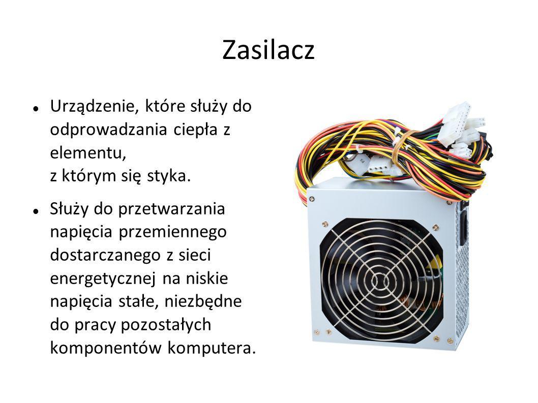 Zasilacz Urządzenie, które służy do odprowadzania ciepła z elementu, z którym się styka.